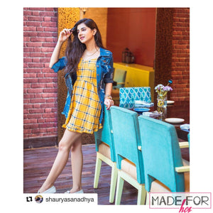Shaurya Sanadhya In Our Cheryl Plaid Skater Dress - Made For Her Label