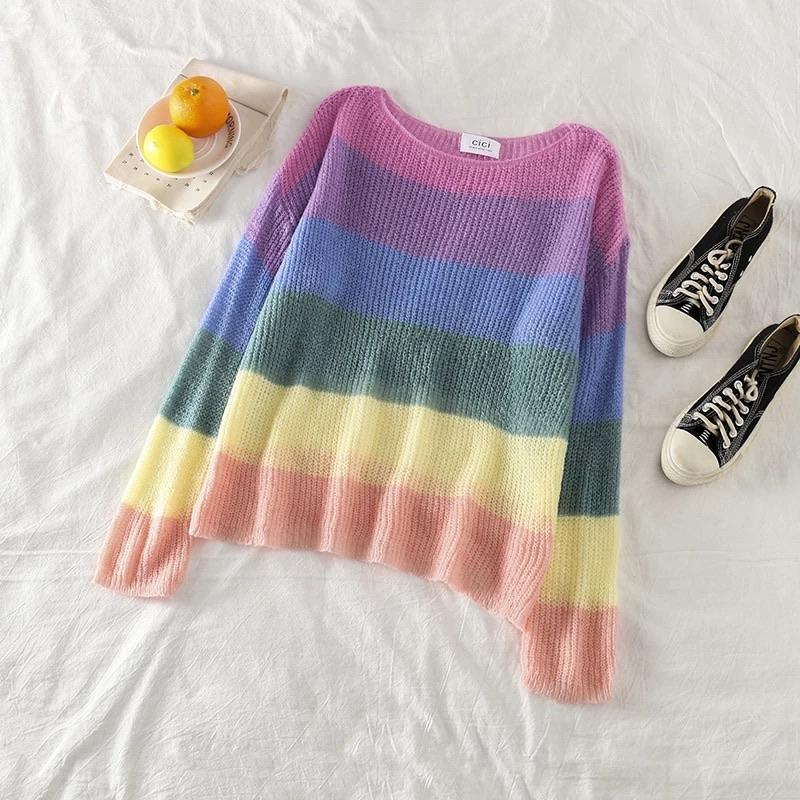 Rainbow Colourful Pullover - Made For Her Label