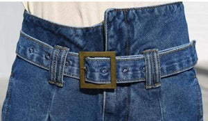 Ruby High Waisted Belted Denim - Made For Her Label