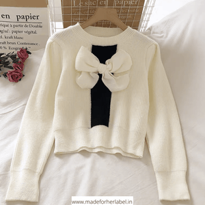 Mini Bow Sweater - Made For Her Label