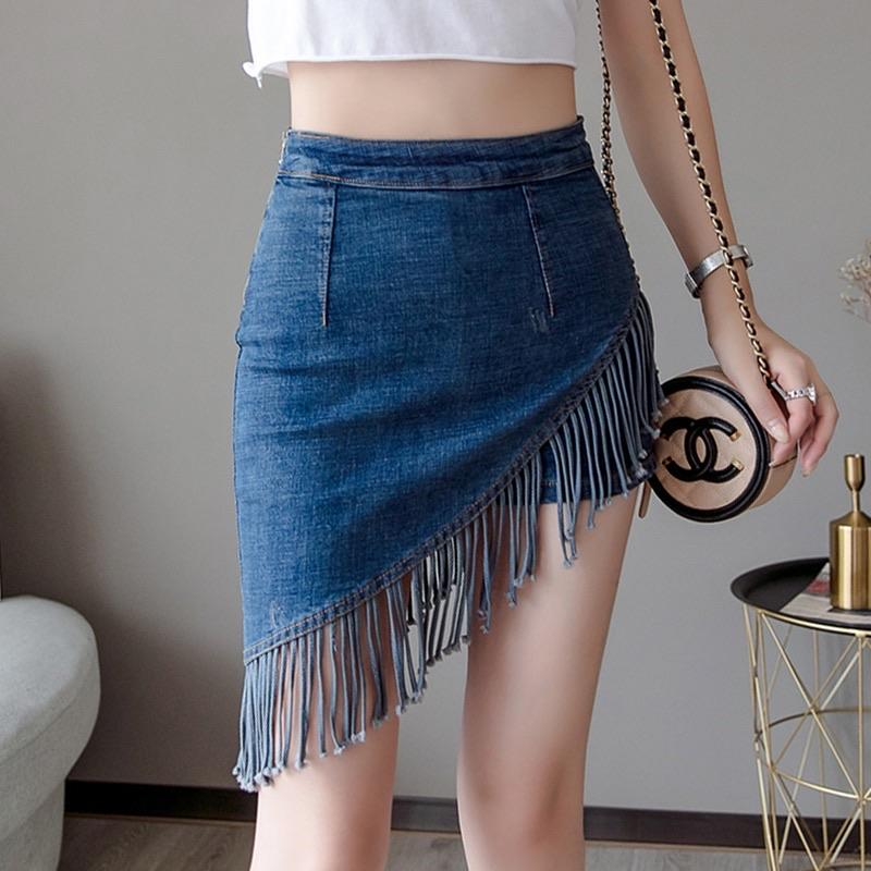 Fringe Denim Skort - Made For Her Label