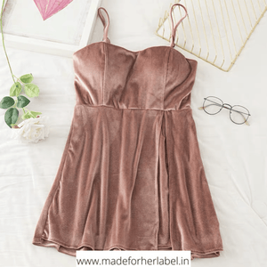 Mary Velvet Romper - Made For Her Label