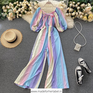 Rainbow Ruched Jumpsuit - Made For Her Label