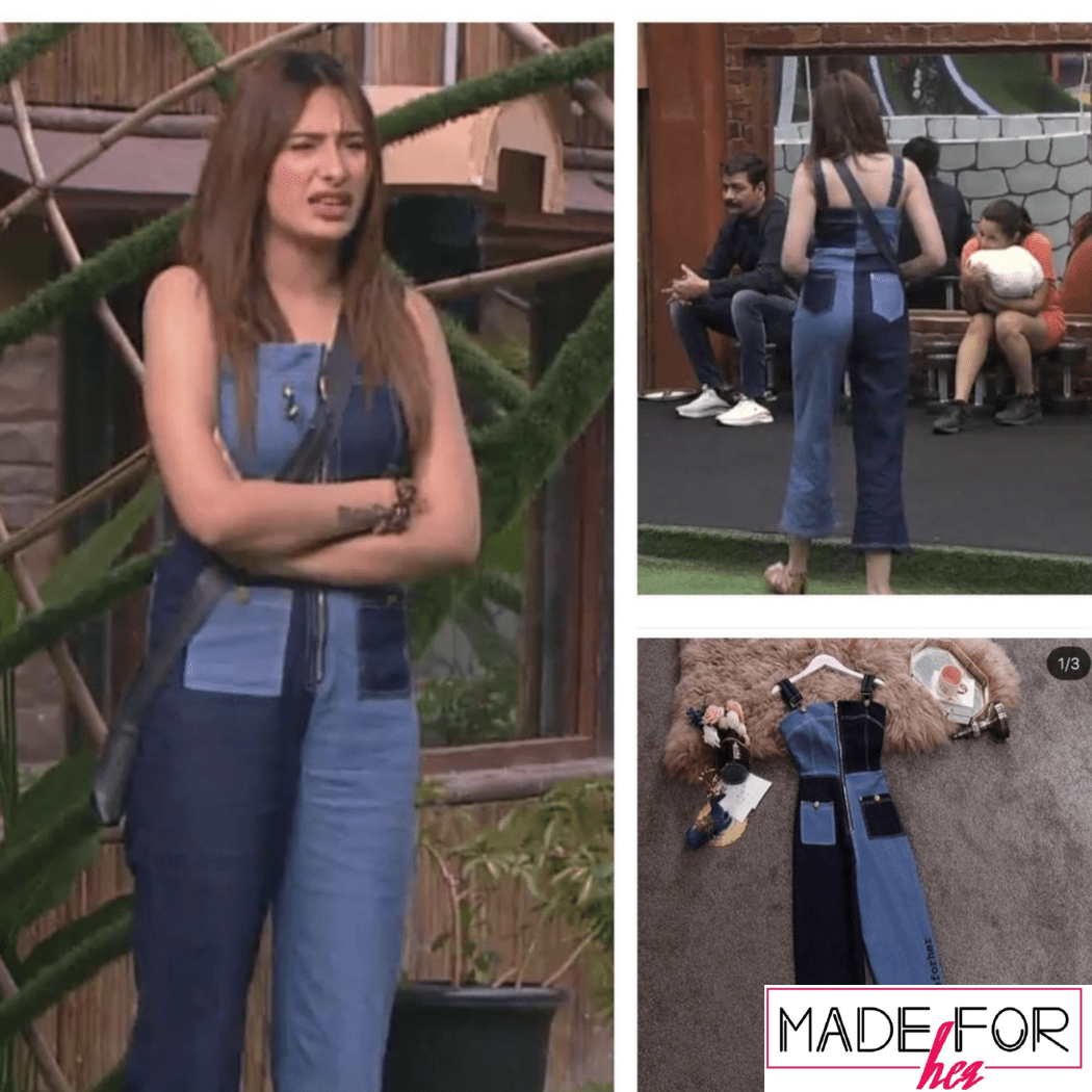 Mahira Sharma In Our Duo Tone Denim Jumpsuit - Made For Her Label