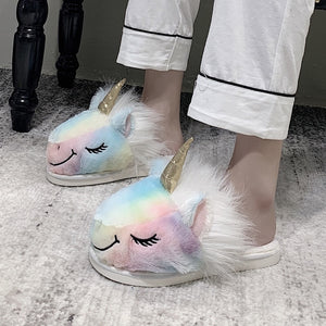 Unicorn Fur Slippers