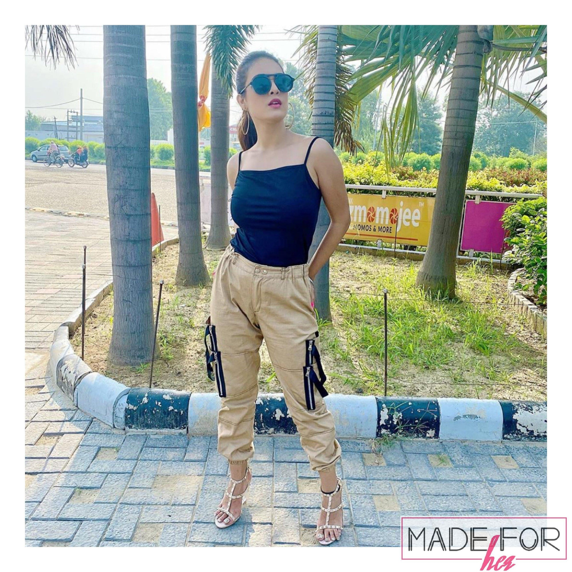 Neha Malik In Our Alexis Cargo Pants - Made For Her Label