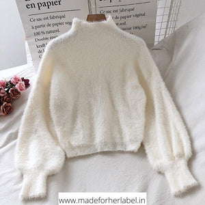 Belle Fur Sweater - Made For Her Label