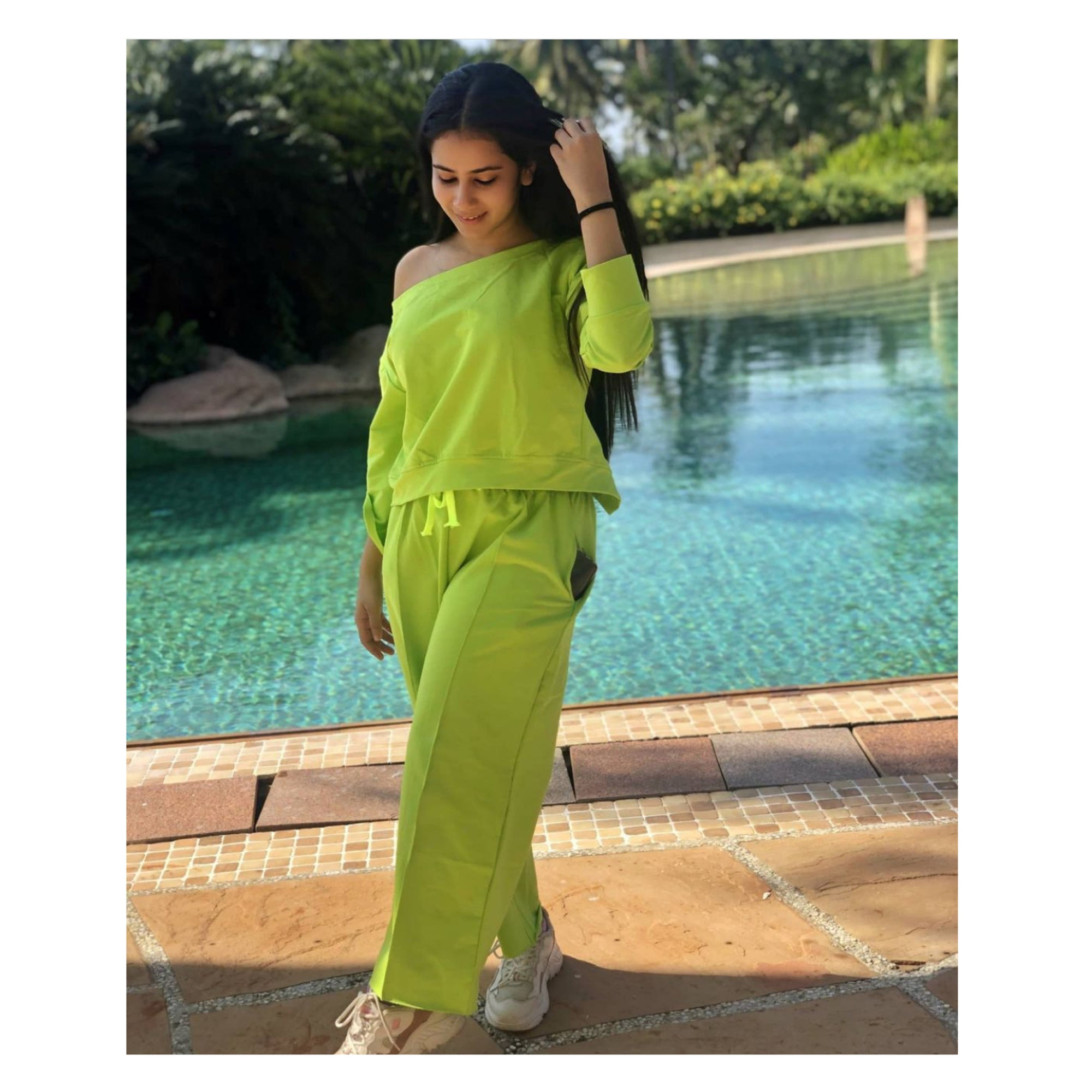 Prishita In Our Neon Tracksuit
