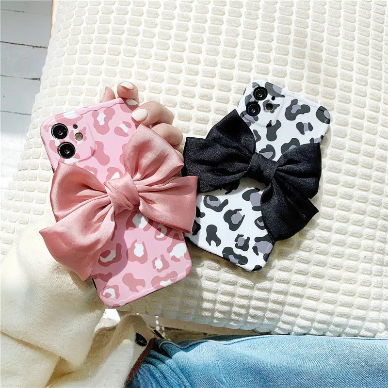 Leopard Bow Iphone Cover