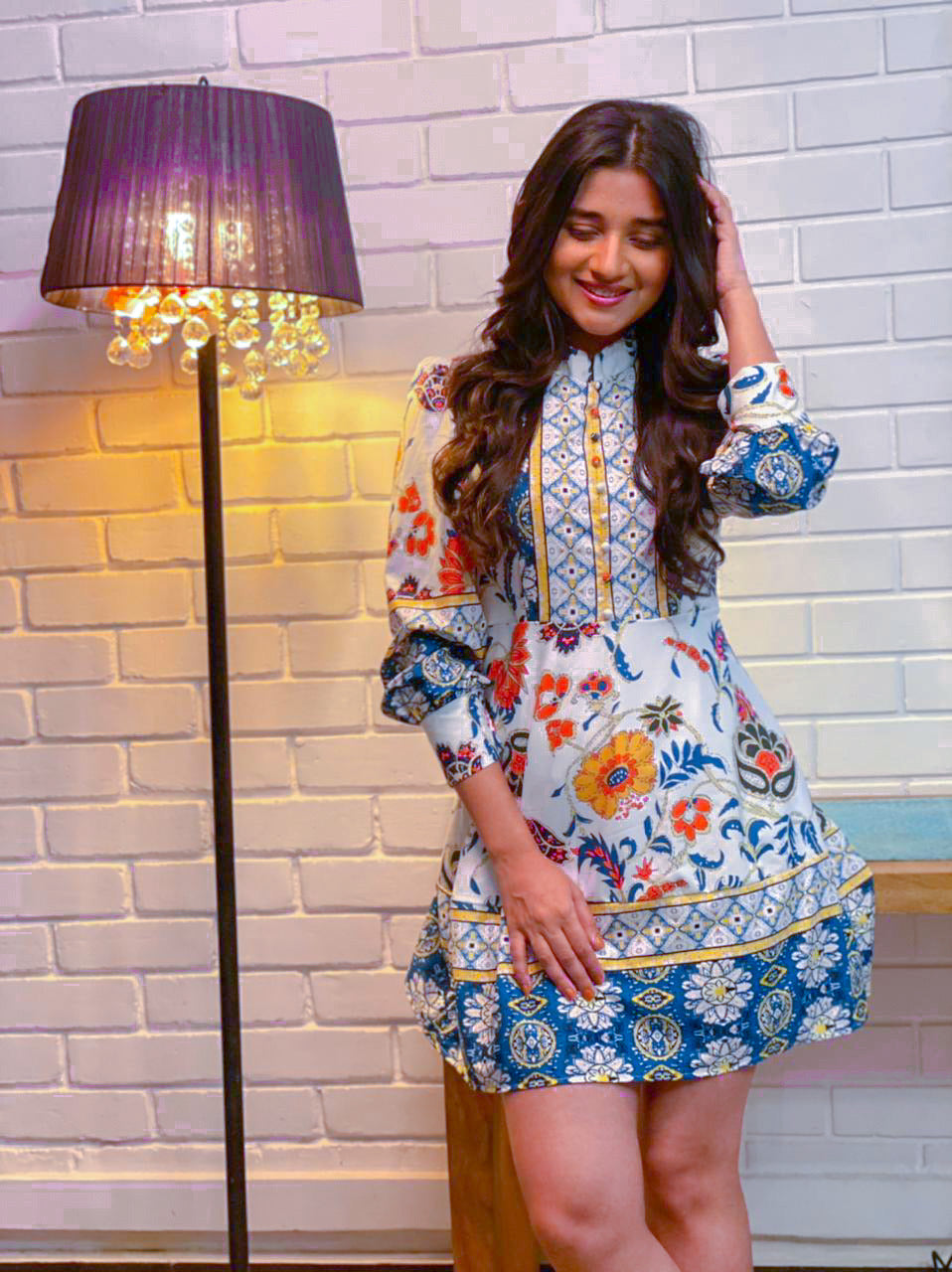 Kanika Mann In Our Bria Vintage Floral Dress