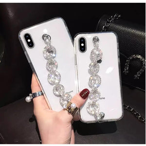 Rhinestone Chain Transparent Case - Made For Her Label