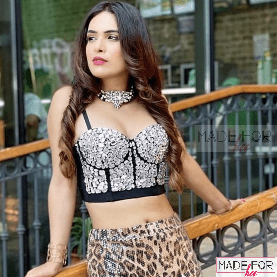 Neha Malik In Our Rhinestone Beaded Bustier - Made For Her Label