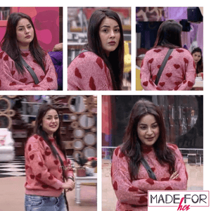 Shehnaaz Gill In Our Heart Pullover - Made For Her Label