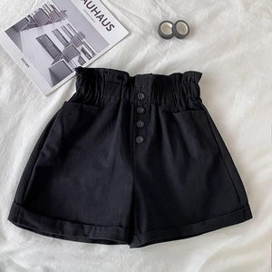 Enna Elastic Waist Shorts - Made For Her Label