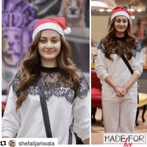 Shefali Jariwala In Our Laila Lace Tracksuit - Made For Her Label