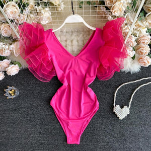 Organza Butterfly Sleeve Bodysuit - Made For Her Label