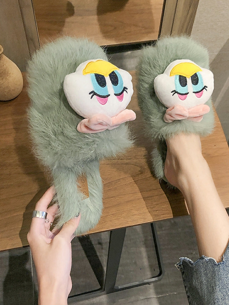 Plush Fur Cartoon Slipper
