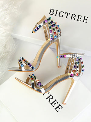 Colorful Rivet Heels