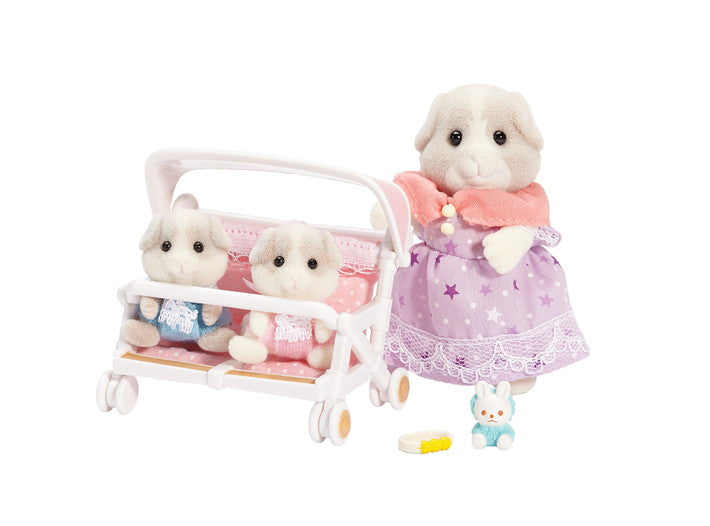 Calico Critters - Patty & Paden's Double Stroller Set