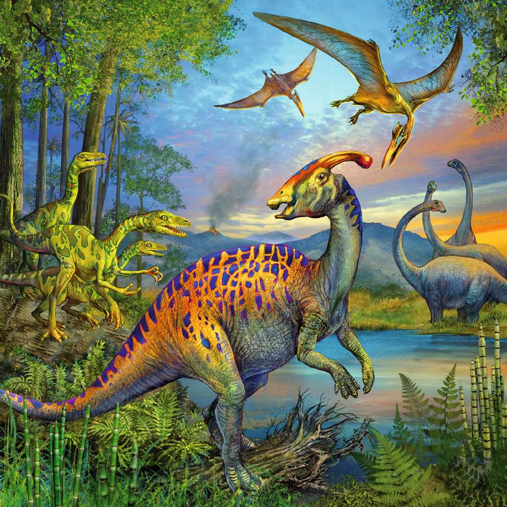 Ravensburger - Dinosaur Fascination 3x49 pc Puzzle