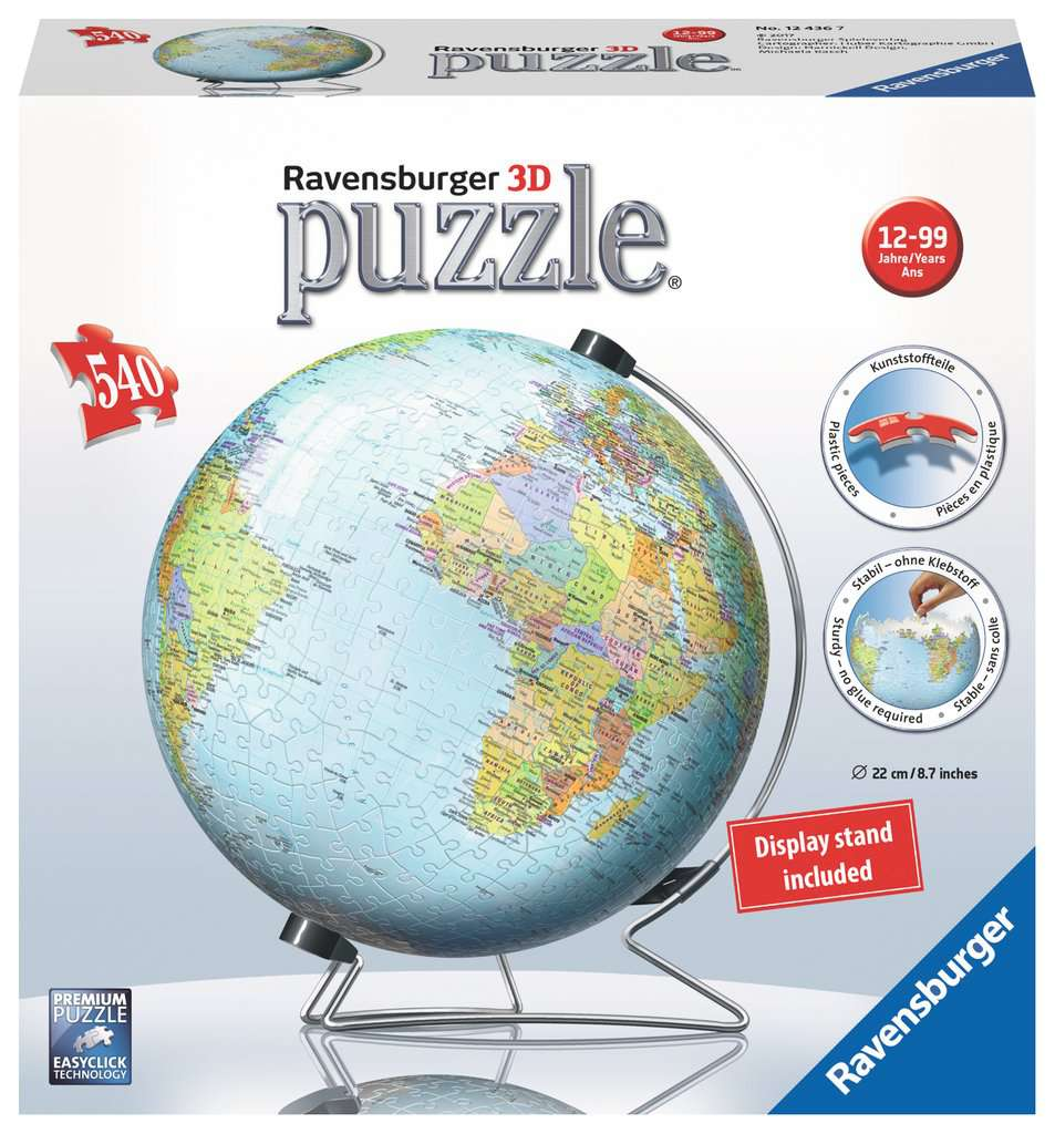 Ravensburger 3D Globe Puzzle - 540 pieces