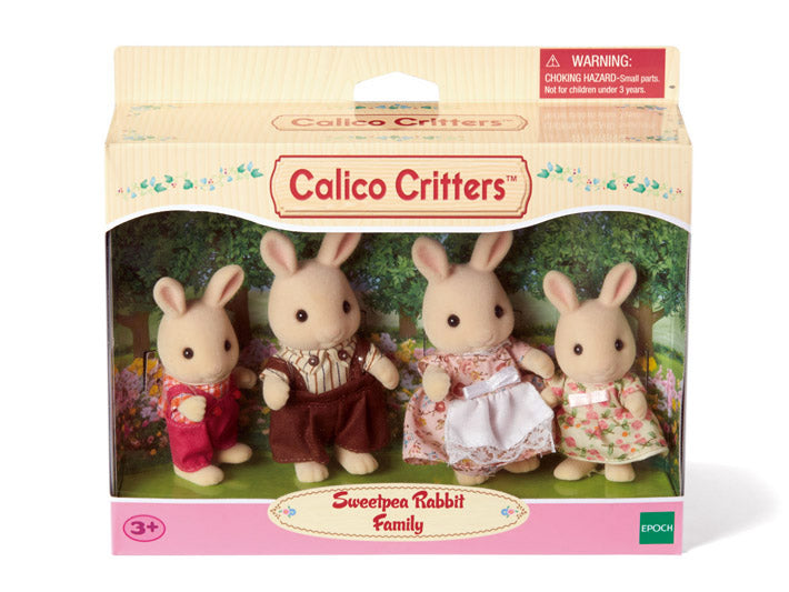 Calico Critters - Sweetpea Rabbit Family
