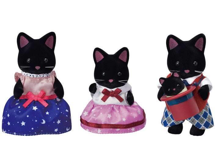 Calico Critters -  Midnight Cat Family