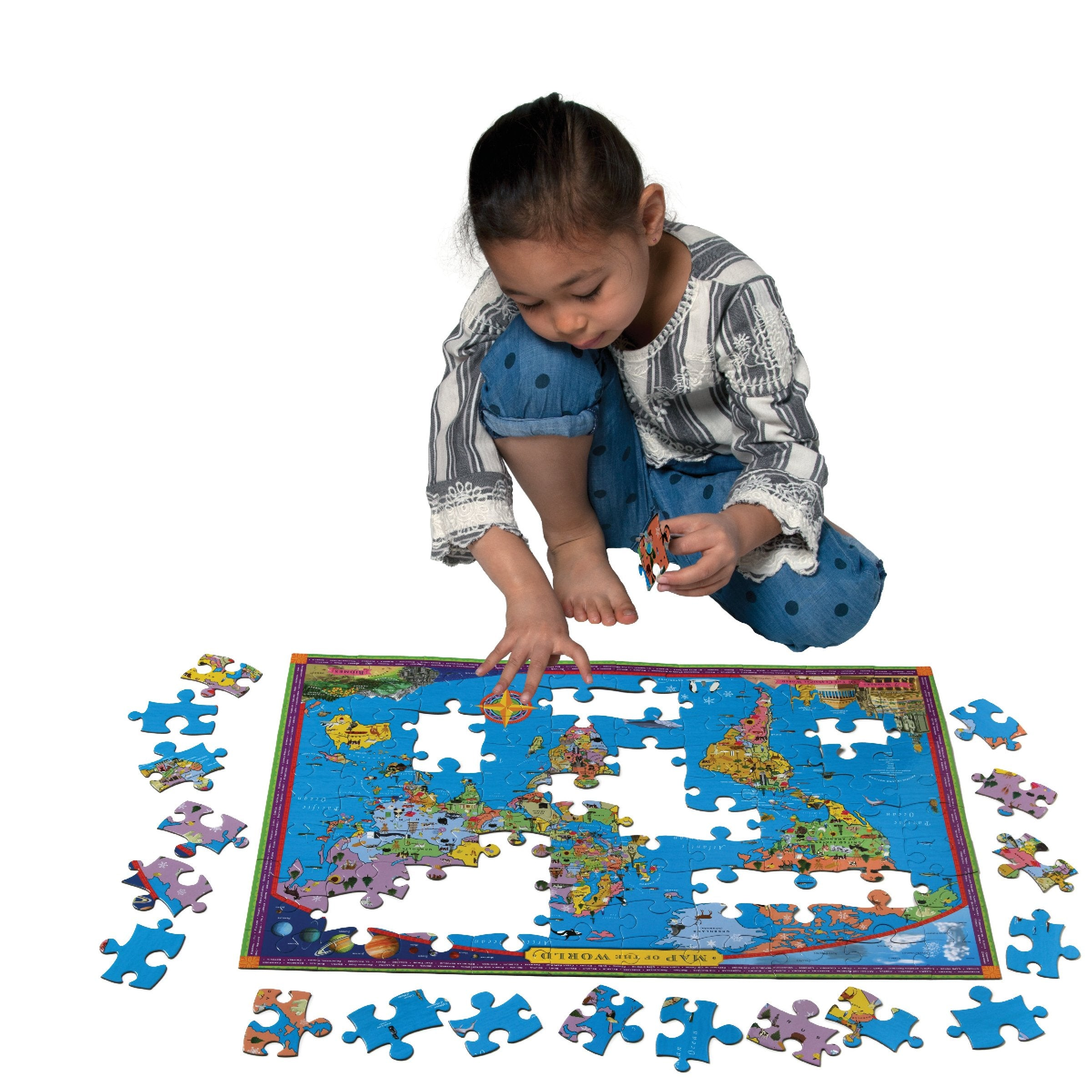World Map - 100 piece puzzle