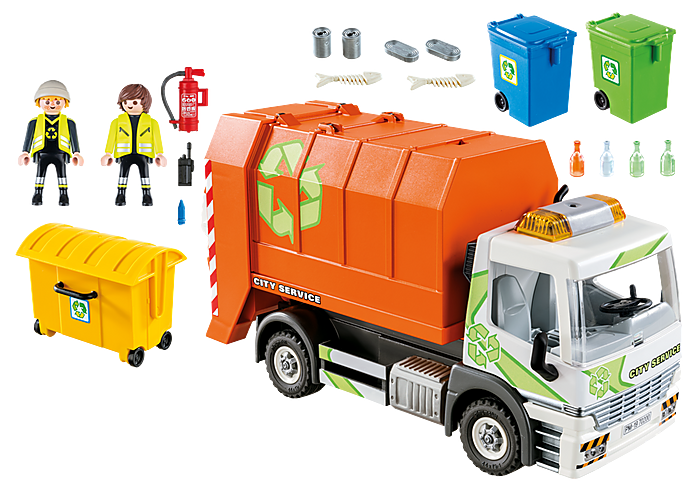 Playmobil City Life - Orange Recycling Truck