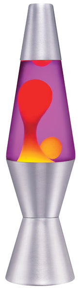 Lava Lamp - Yellow & Purple 11.5""