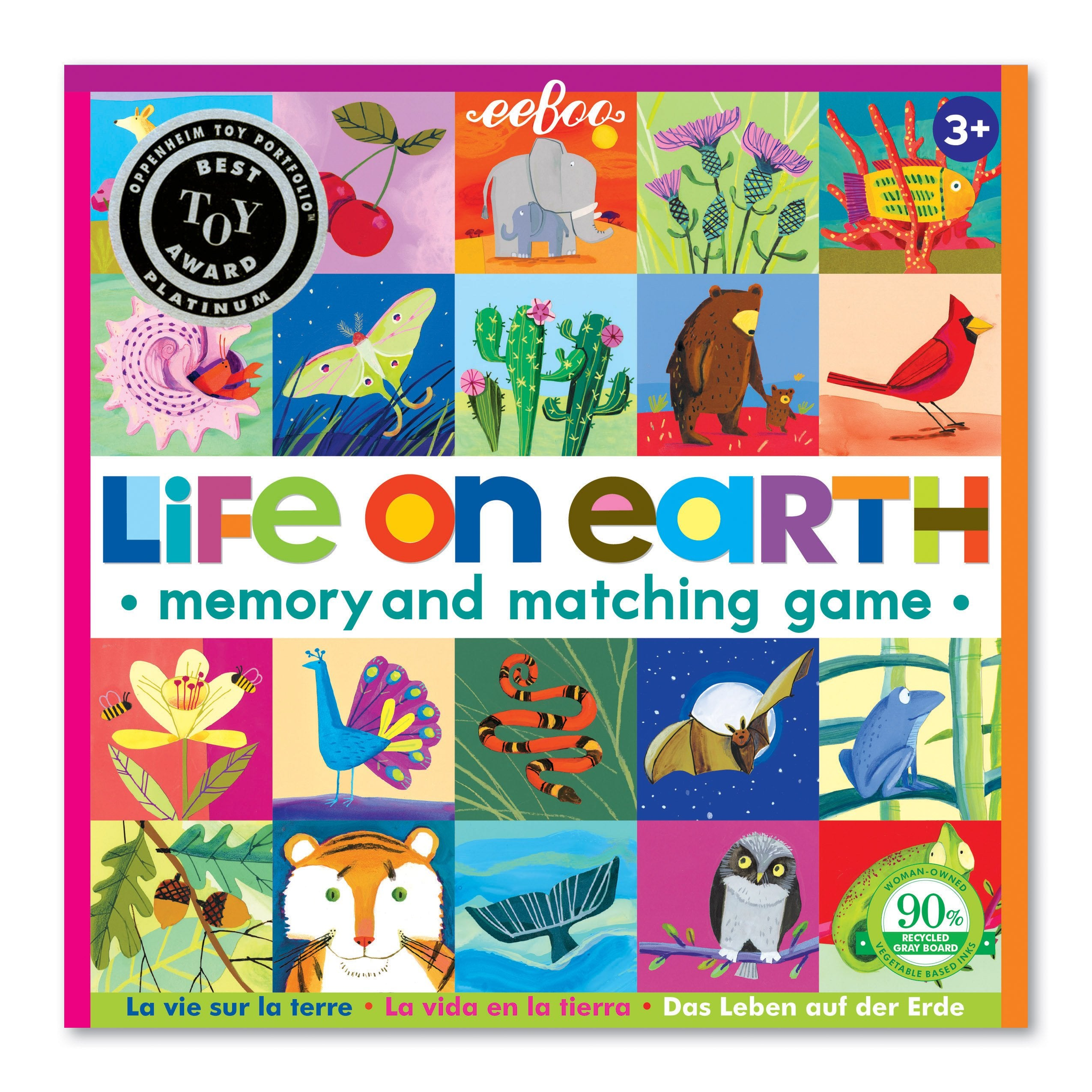 Memory & Matching Game - Life on Earth