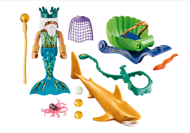 Playmobil Magic - King of the Sea With Shark Carriage