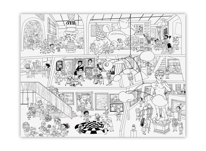 Giant Coloring Poster: Art Museum
