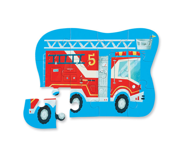 12 Piece Puzzle -  Fire Truck