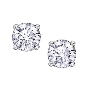 .11ct Eternal Flame Diamond Stud Earrings AM101W10 - Fifth Avenue Jewellers