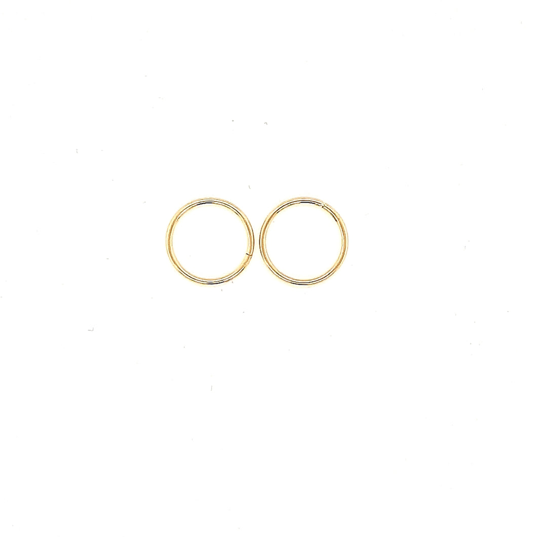12MM Yellow Gold Sleepers Fifth Avenue Jewellers