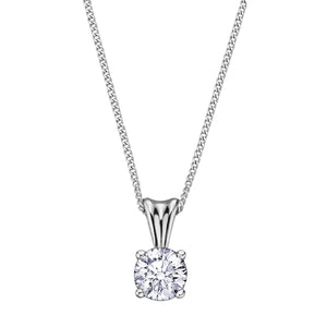 .15ct Eternal Flame Diamond Solitaire Pendant AM103W15 - Fifth Avenue Jewellers