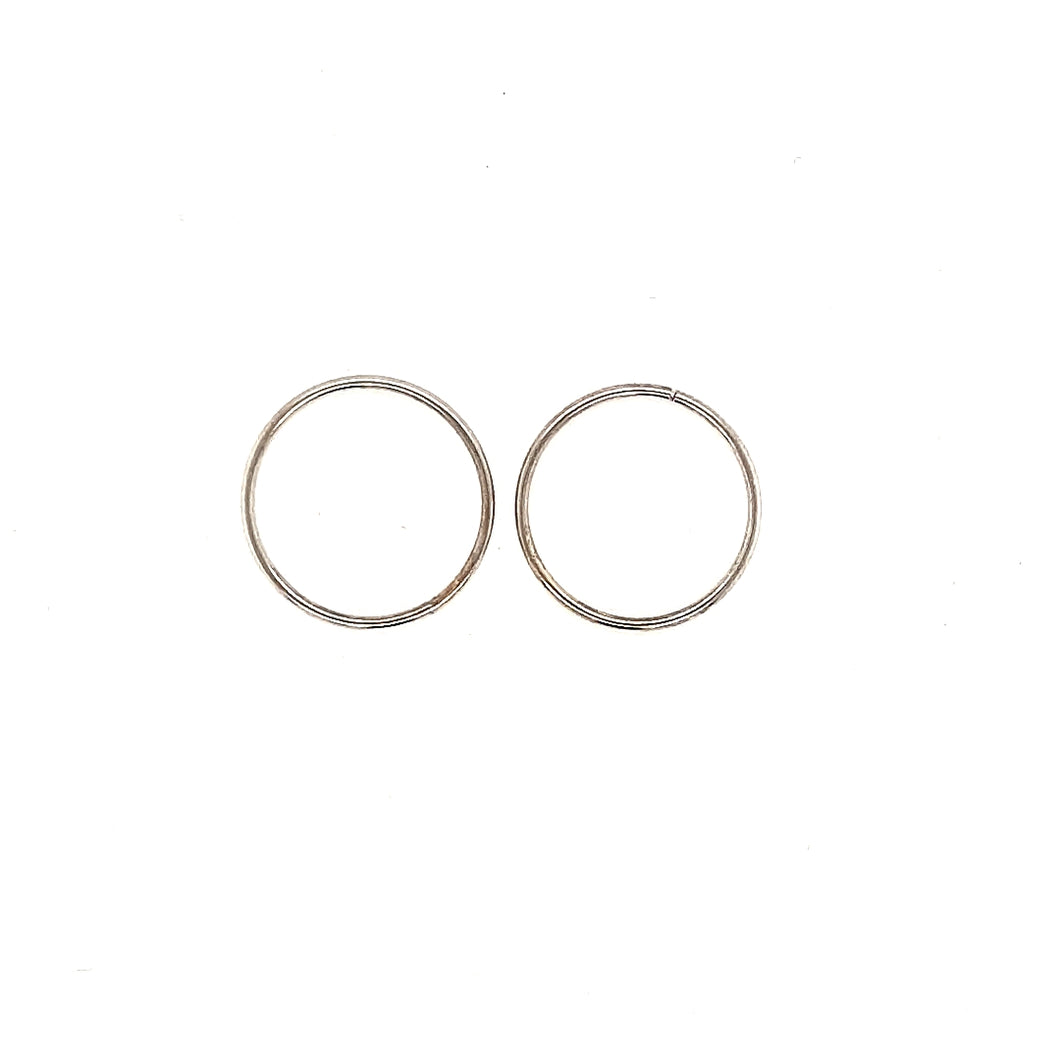 18MM White Gold Sleepers Fifth Avenue Jewellers