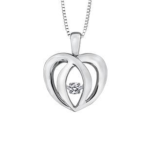 3-D Dancing Heart Necklace - Fifth Avenue Jewellers