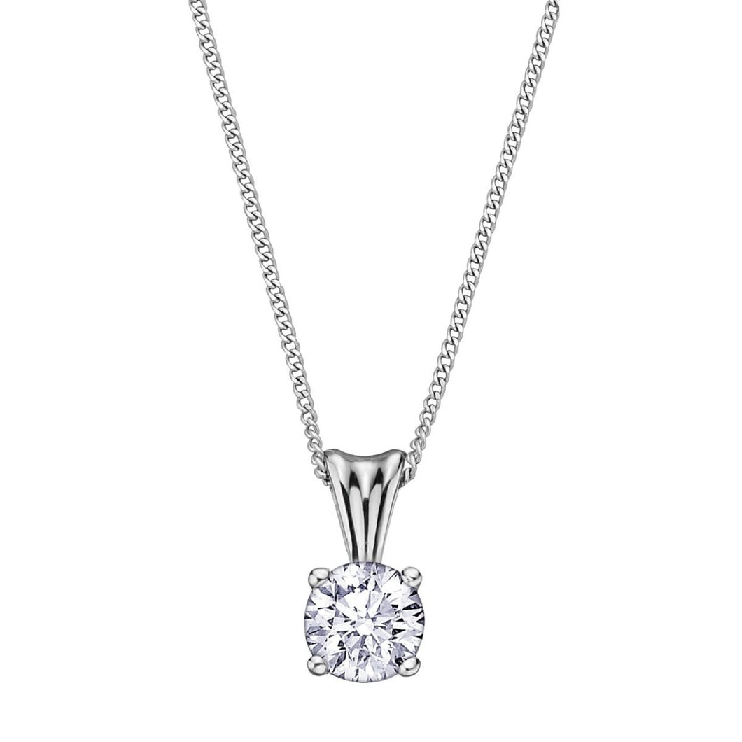 .30ct Eternal Flame Diamond Solitaire Pendant AM103W30 - Fifth Avenue Jewellers