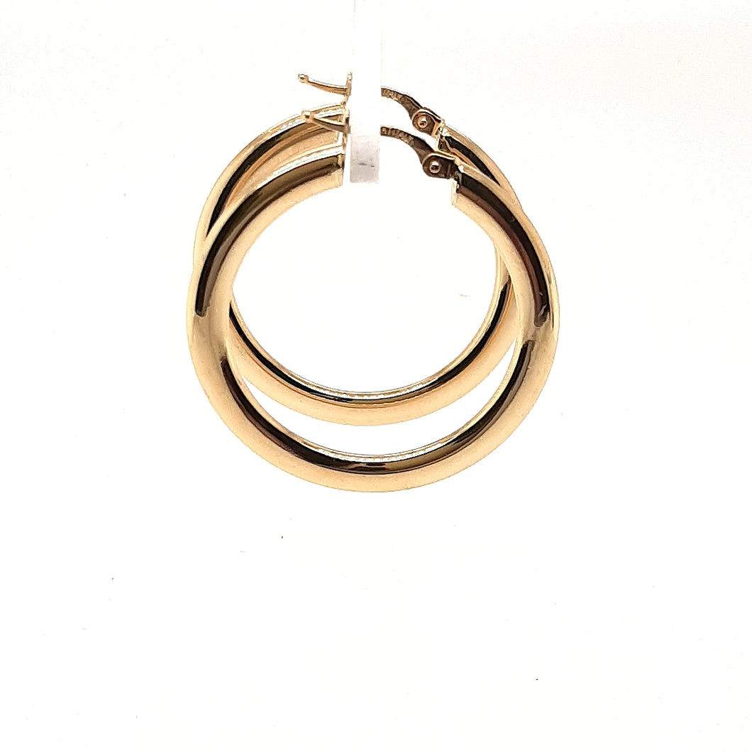 Sleek Gold Hoops Fifth Avenue Jewellers Kamloops BC