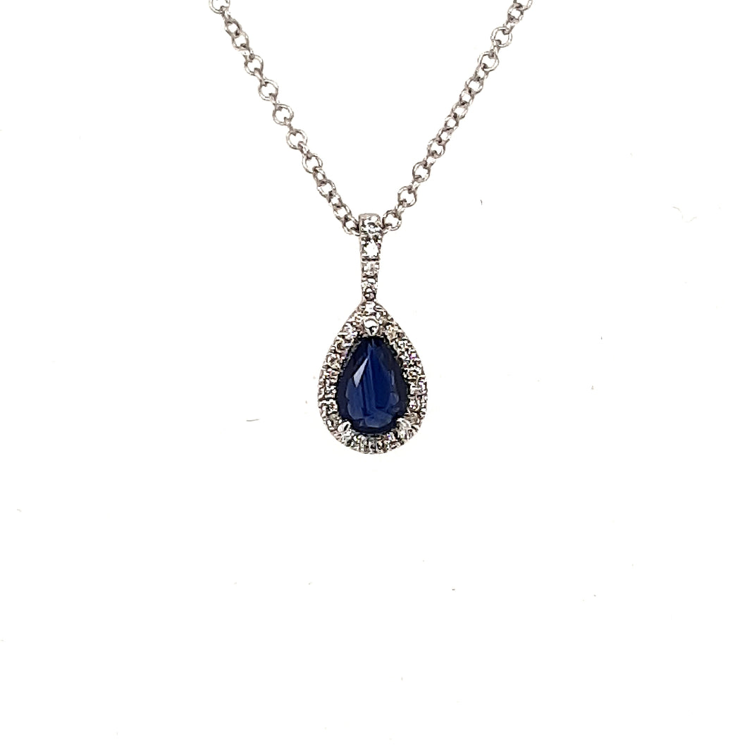 Teardrop Sapphire And Diamond Pendant Fifth Avenue Jewellers Kamloops BC