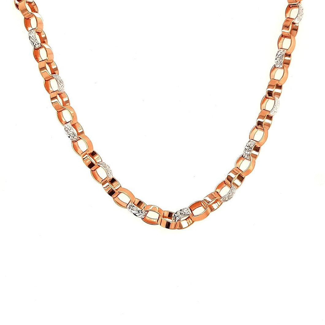 Bella Bliss Rose Gold Diamond Cut Cable Chain - Fifth Avenue Jewellers
