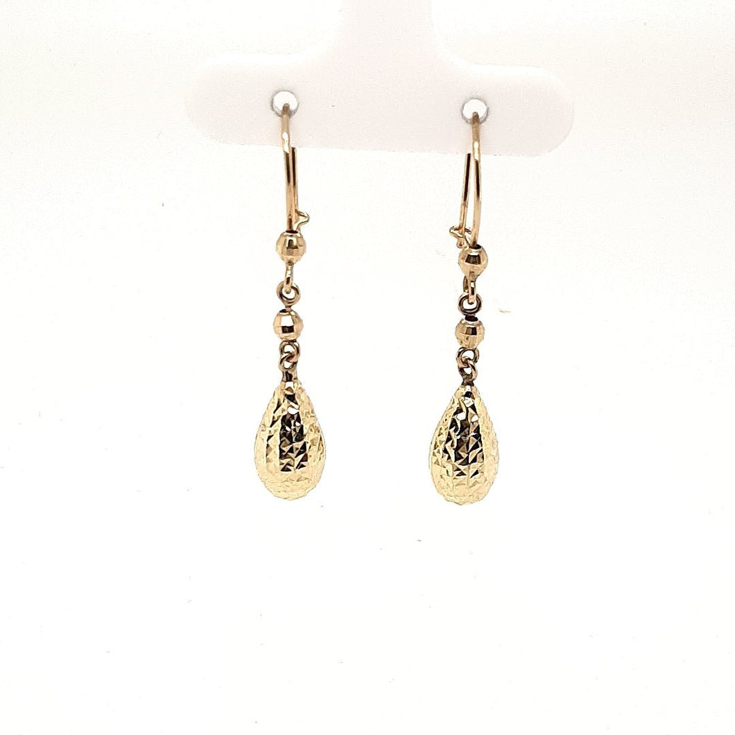 Bella Diamond Cut Pear Shaped Drop Earrings - Fifth Avenue Jewellers