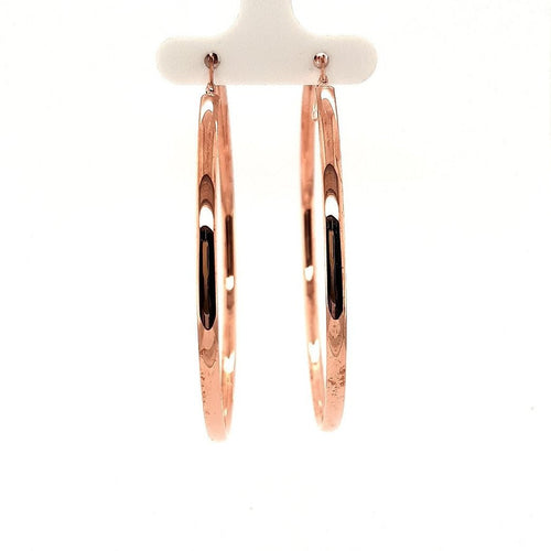 Bella Rio Large Rose Gold Hoops - Fifth Avenue Jewellers