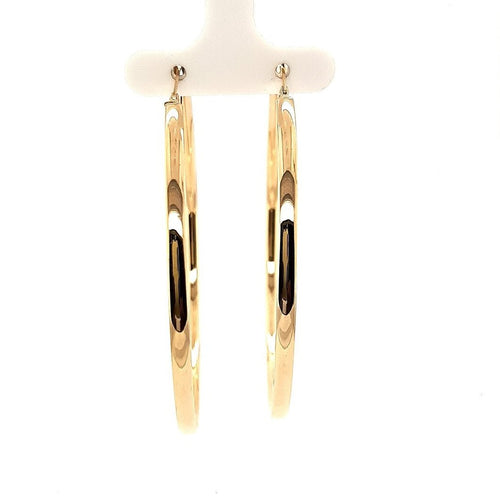 Bella Rio Yellow Gold Statement Hoops - Fifth Avenue Jewellers
