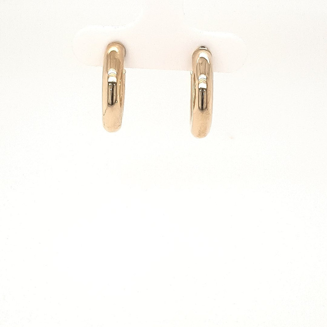 Bella Small Classic Yellow Gold Hoops - Fifth Avenue Jewellers
