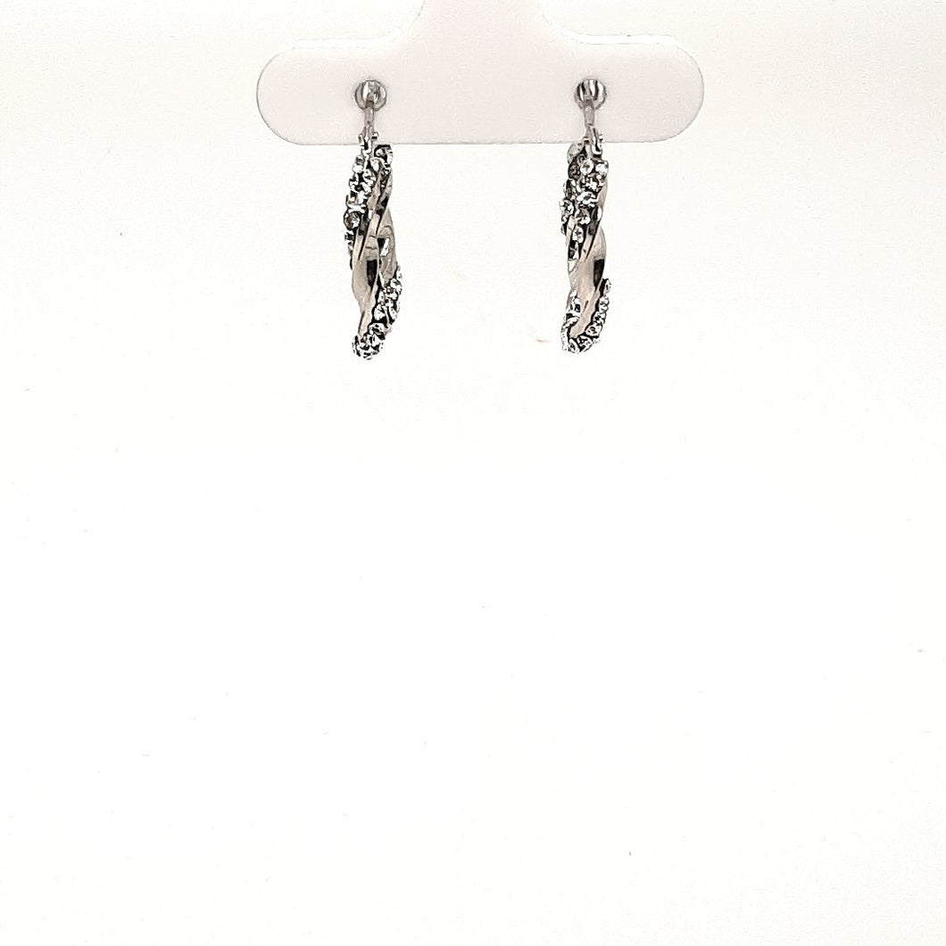Bella Twisted Shine Hoops - Fifth Avenue Jewellers