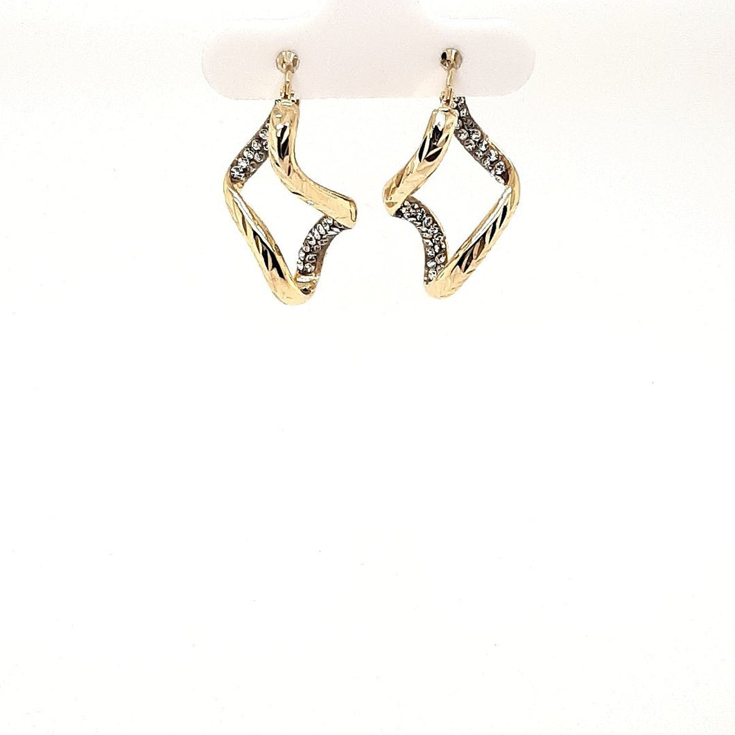 Bella Twisted Sparkle Hoops - Fifth Avenue Jewellers