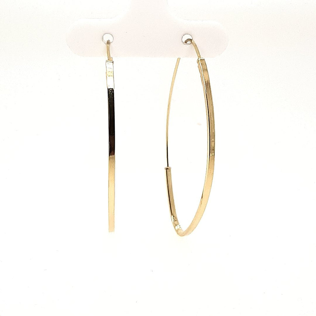 Bella Yellow Gold Oval Hoops - Fifth Avenue Jewellers
